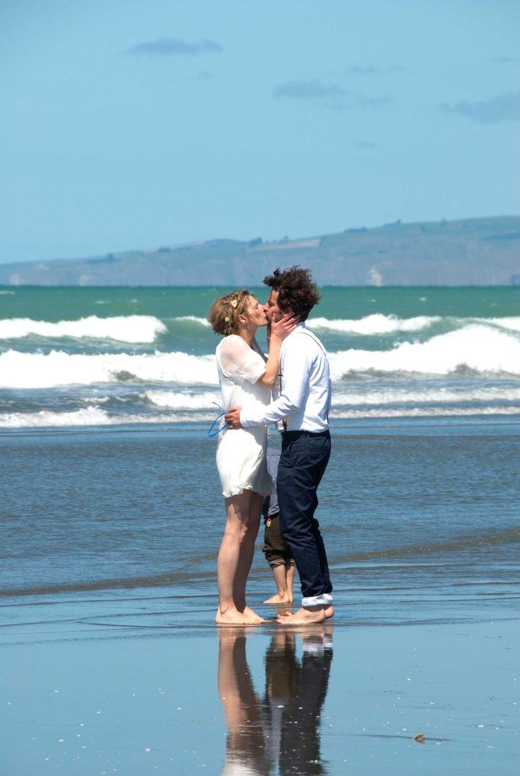 beach wedding new zealand