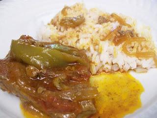 Portuguese Steak w/ tomato and onions