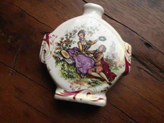 Miniatuur porselein parfum fles, geur geur fles, miniatuur schilderen op aardewerk