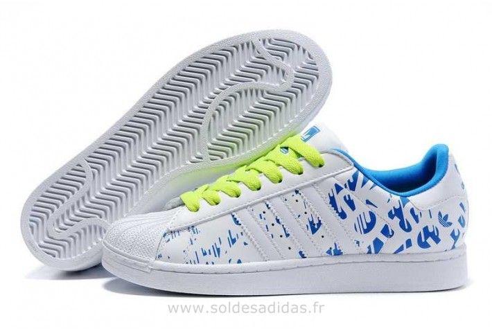 Adidas Chaussures D'amoureux Bleu Blanc Chaussure Adidas Montante Soldes-01
