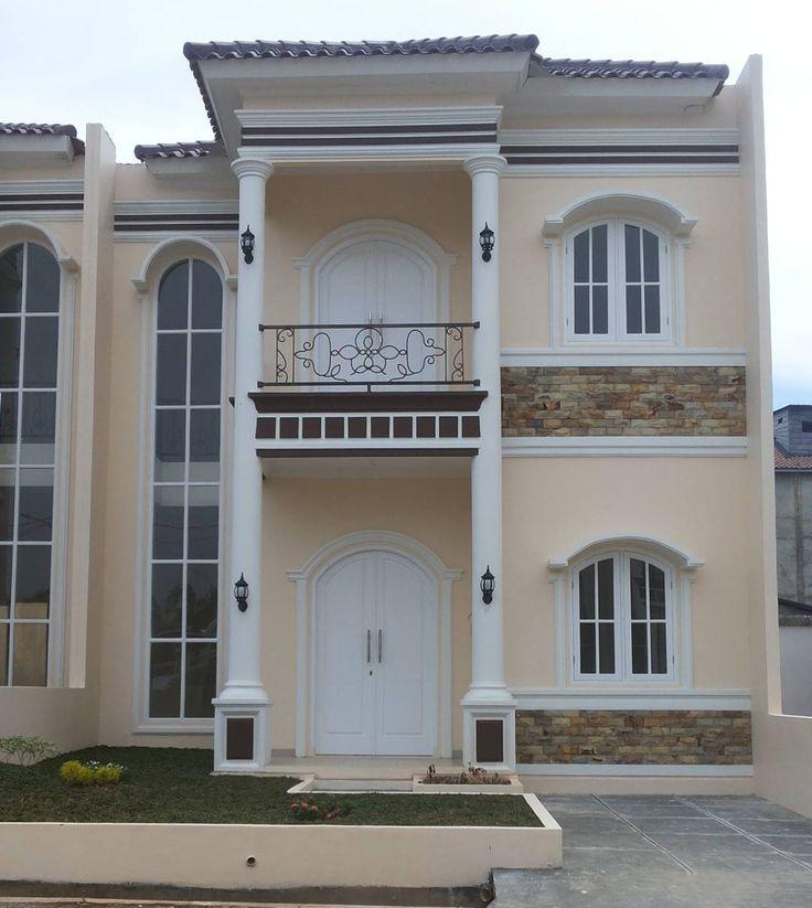 Model Tiang Teras Bulat Depan Rumah Minimalis Dengan Model Teras Rumah Terbaru Dan Warna Cat Rumah Yang Bagus