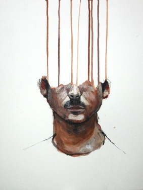 "Lou ROS; Painting, ""selfportrait 8"""