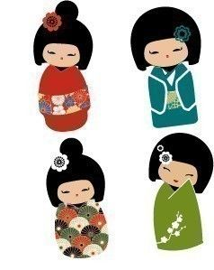Kokeshi doll pictures