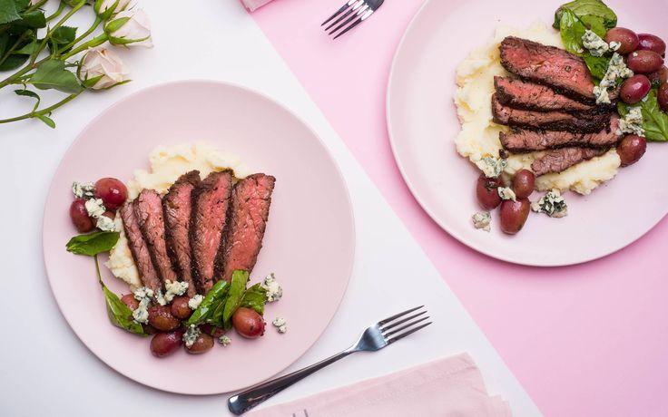 Herb-Garlic Crusted Flank Steak