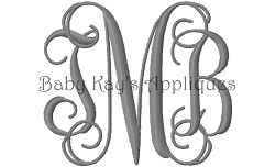 Vintage Vine Font - 4"