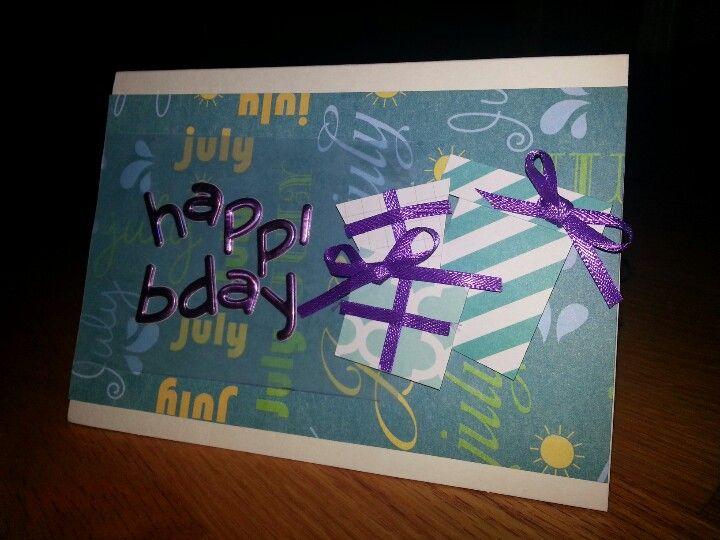 July bday card