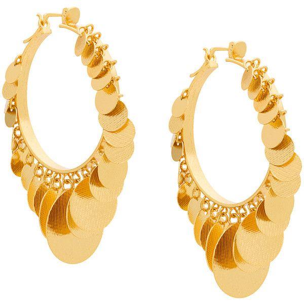 Paula Mendoza Embera hoop earrings (€360) ❤ liked on Polyvore featuring jewelry, earrings, metallic, metallic jewelry, paula mendoza jewelry, earring jewelry, hoop earrings and paula mendoza