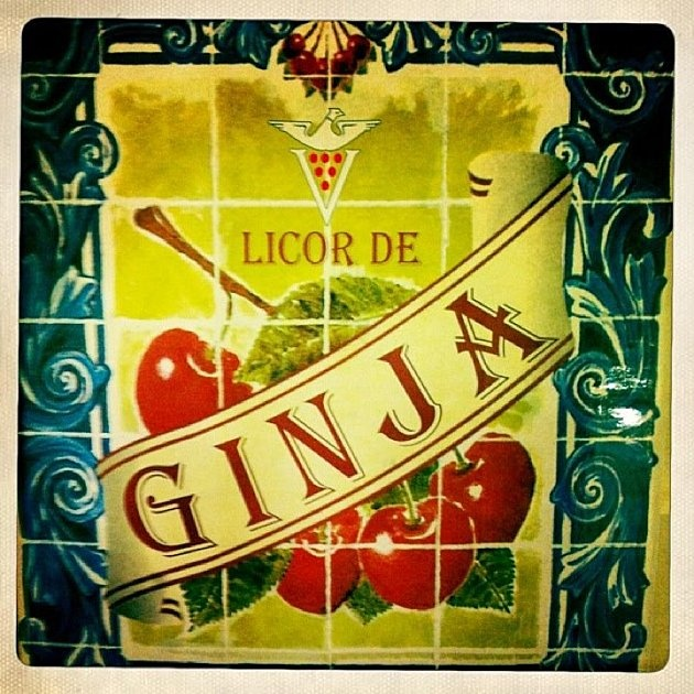 Ginjinha Sign taken by ArcStreet.com -- I just heard about this liquor on No Reservations... I might have to experiment with Trader Joes Morello Cherries, Vodka and Star of Anise!  Here is a recipe:     http://www.food52.com/recipes/2164_sour_cherry_liqueur_ginginha
