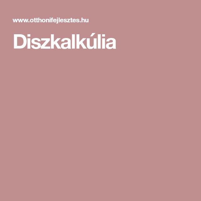 Diszkalkúlia