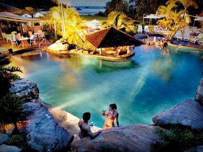 Aanuka Resort, Coffs Harbour, NSW, Australia. A week of eating seafood platters by the pool. Heavenly!