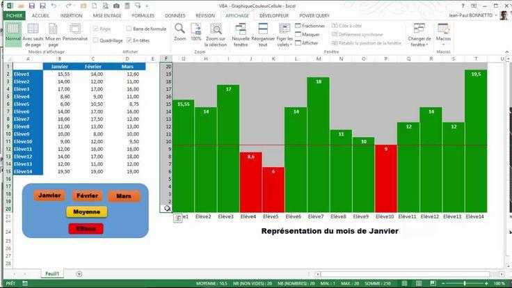 Excel VBA - Comment créer un graphique type Histogramme en coloriant des...
