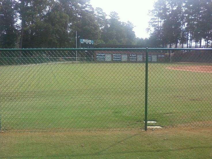Ball park chain link fence - see more at http://www.fenceworksofga.com/chain-link-fence/
