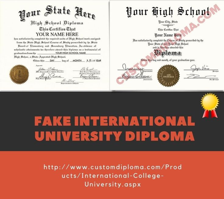 18 best Fake diploma | High School diploma design images on ...