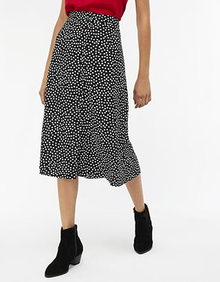 d3b7deb34e Monsoon | Daisy Dot A Line Skirt | Black | UK 18 / US 14 / EU 46 |  5451650118