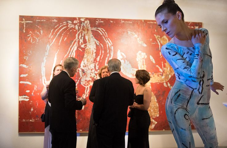 Performance art meets Zhou Brothers art at 2014 10th Anniversary event.