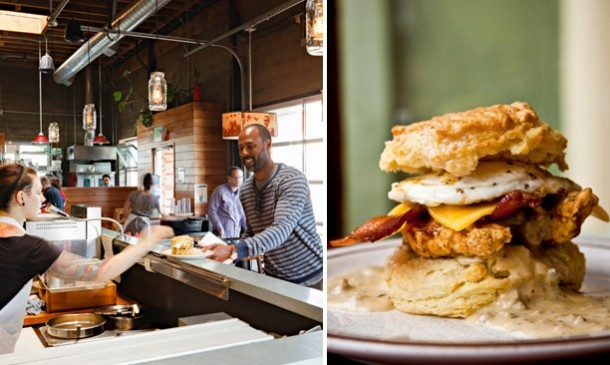 Take this tour of Portland's friendly neighborhood cafes to get a sampling of what's on our breakfast menu.