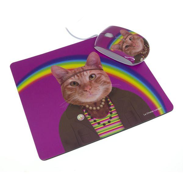 ilginç bir mouse ve aynı desen pad