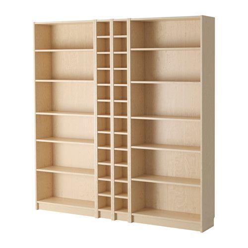 BILLY / GNEDBY Bookcase IKEA Adjustable shelves can be arranged according to your needs. Surface made from natural wood veneer.