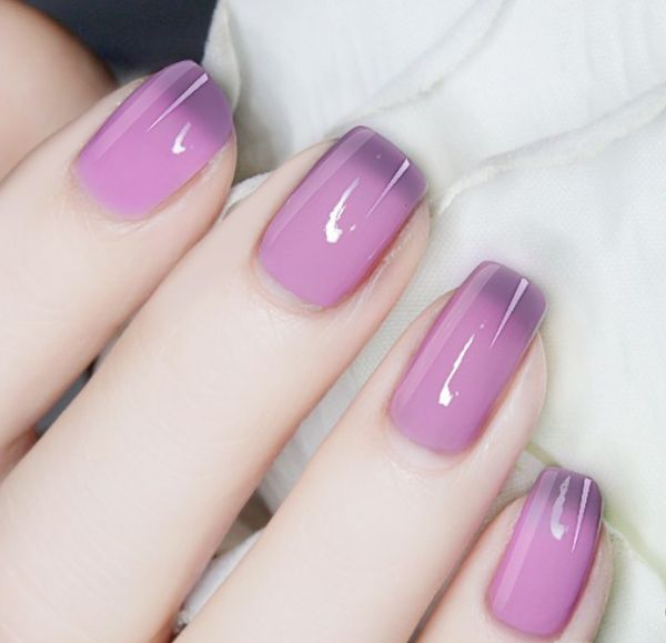 Thermal Color Changing Nail Polish Gray to Purple # 23805