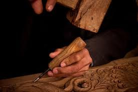 Nate's natural talent, wood-carving