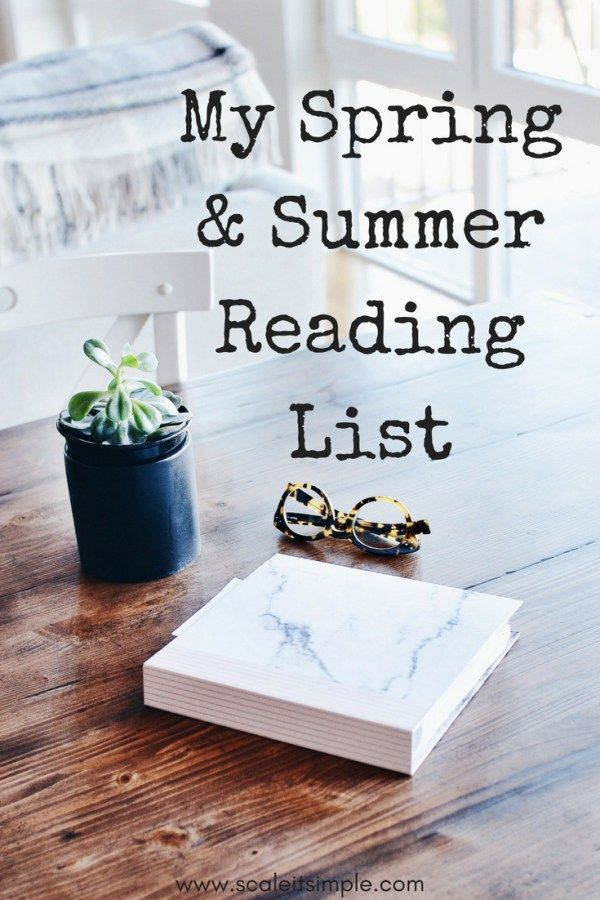 My spring and summer reading list for 2018. Self-help books and fiction books to help get you through the best reading seasons of the year. Check out these books to inspire your reading habits this year.