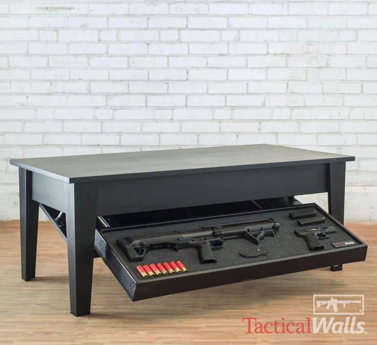 ***AS THIS IS A BRAND NEW PRODUCT PLEASE ALLOW 2-4 WEEKS FOR DELIVERY*** Our Concealment Coffee Table is a stand alone staging solution which does not require wall installation. It is hand made with a U.S. sourced maple wood table top and legs, and features a clean and elegant design that keeps your hardware hidden in plain sight while offering quick access. Exterior Table Dimensions 49