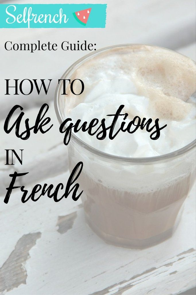 "Hello! Bonjour tout le monde!  It's time for your French lesson! From your very first lesson of French, if you've had any, you had to learn how to ask a few questions. Basics being ""what's your name?"" or ""How are you?"". Today I want to share with you the best three techniques to ask a question in French. Let's go!    1) Translate ""Do you ... ?""  In order to translate a questions such as ""Do you like to cook"". You need to convert the English semi-auxiliary into the French ""magic"" question…"