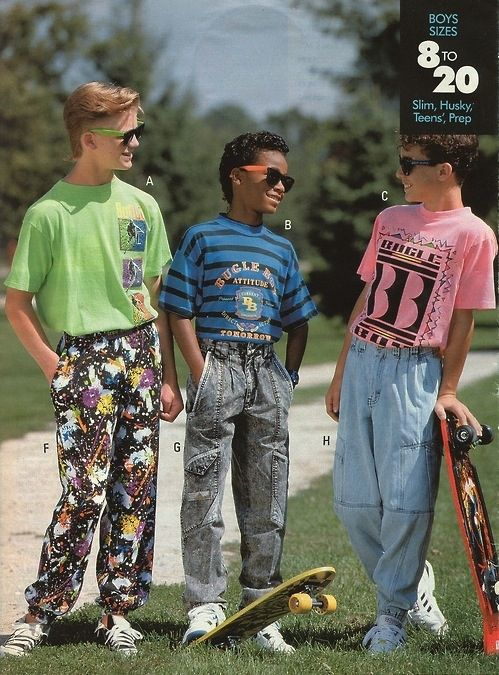 33 90's Trends that in retrospect maybe weren't such a great idea: Anything the company Bugle Boy ever made.