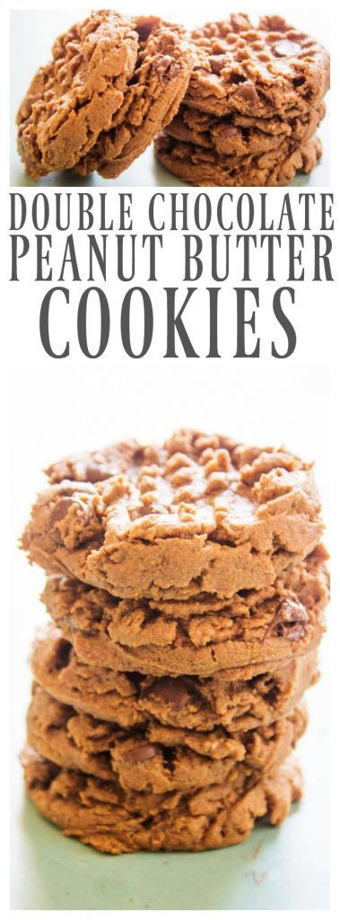 Double Chocolate Peanut Butter Cookies - A Dash of Sanity