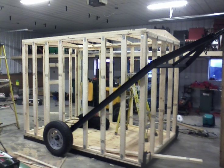 Ice shacks on wheels pictures to pin on pinterest thepinsta for Fish house drop down wheel kit