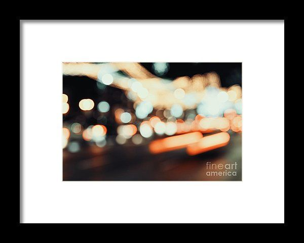 City Traffic Lights Background Framed Print