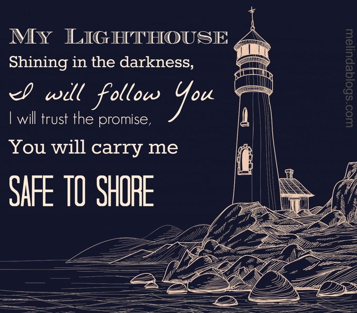 """My lighthouse by Rend Collective is my """"song of the year."""" Read why: http://melindablogs.com/you-are-the-peace-in-my-troubled-sea/"""