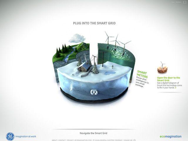 GE | Plug Into the Smart GridのWebデザイン http://ge.ecomagination.com/smartgrid/