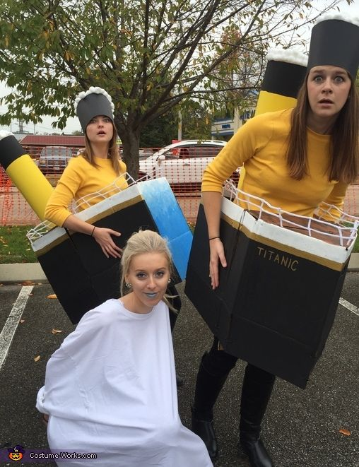 Titanic with Iceberg - Creative Halloween Costume Idea