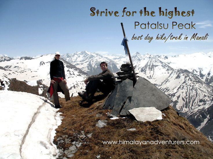 Day Hikes/ Treks in and around Manali Patalsu Peak over 4000 Mts. wonderful/best day trek for adventure freaks.