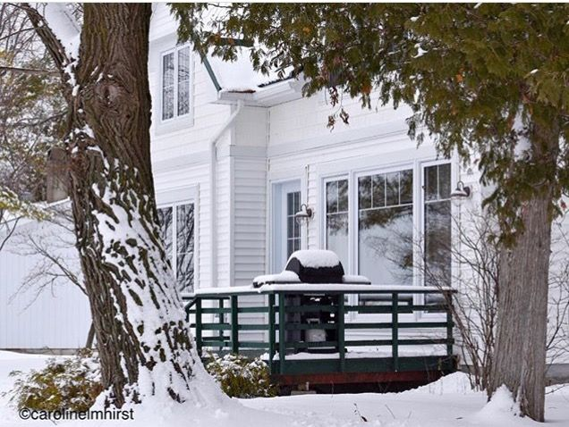 Cottage 3, our newest accommodation cottage rental... first #winter. Accessible, 3 bedroom cottage. All cottages are lakefront. #RiceLakeON #ontario #cottage #rentals