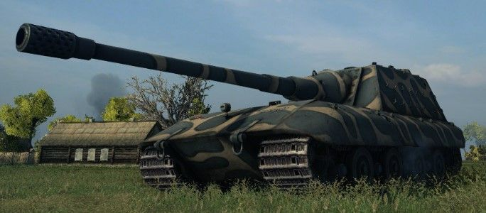 The Mighty Jagpanzer E-100 in World of Tanks