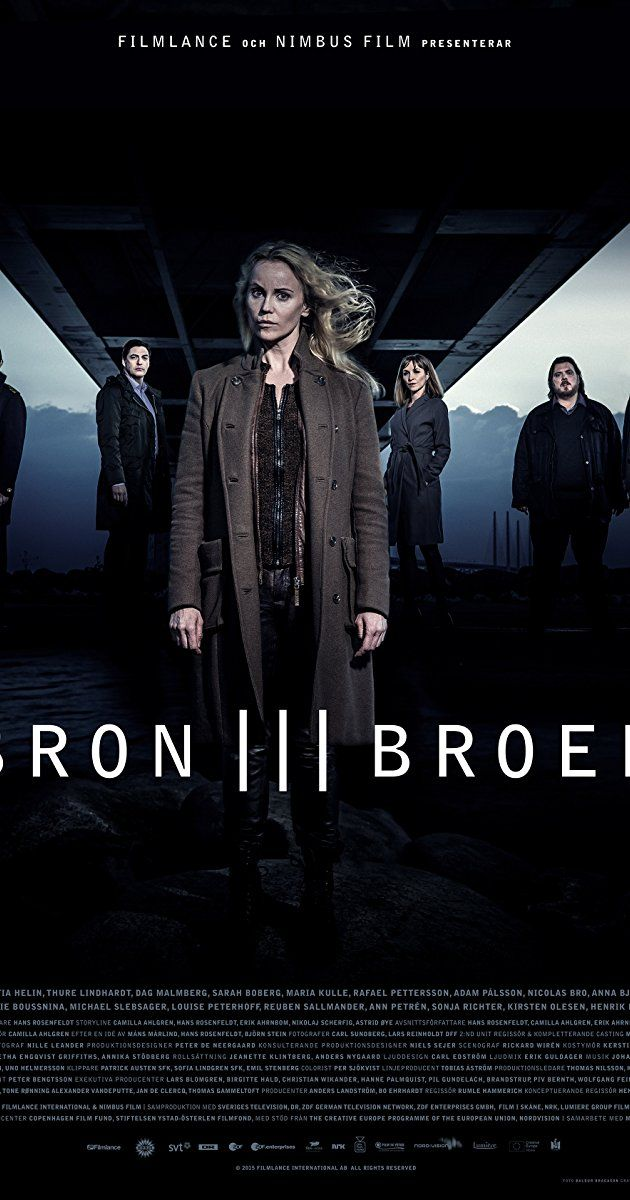With Sofia Helin, Rafael Pettersson, Sarah Boberg, Dag Malmberg. When a body is found on the bridge between Denmark and Sweden, right on the border, Danish inspector Martin Rohde and Swedish Saga Norén have to share jurisdiction and work together to find the killer.