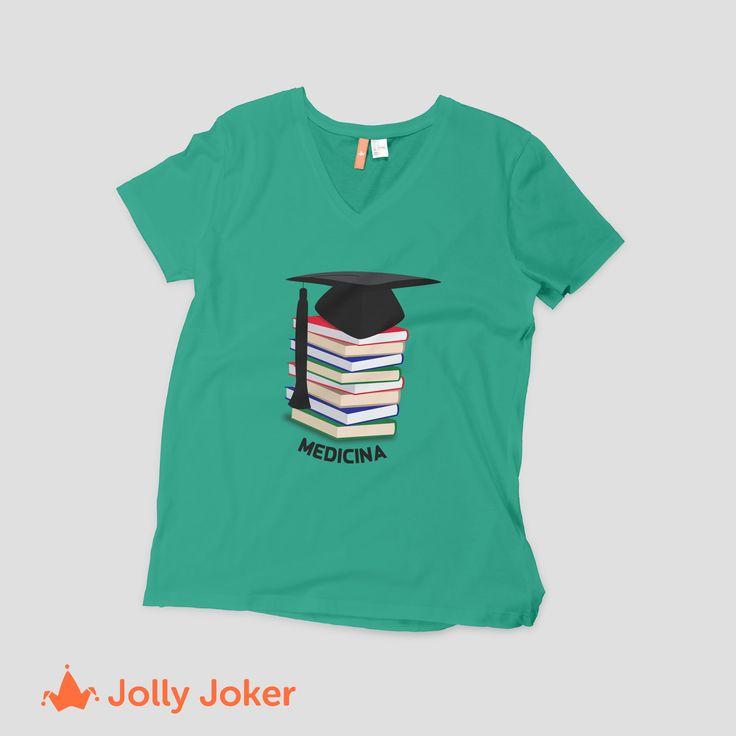 ¡Te vas a graduar de medicina, fisioterapia, ingeniería, administración o del colegio?  En Jolly Joker puedes diseñar camisetas personalizadas, como tu grupo las quiera, entra y crea la mejor camiseta de grado