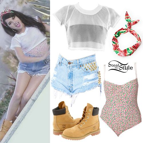Becky G Shower Music Video Outfit