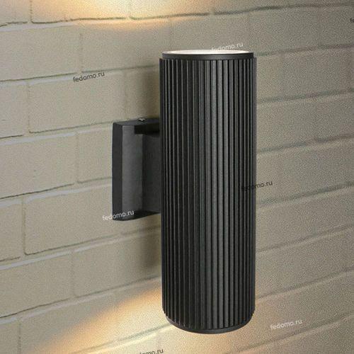 1403 Светильник настенный уличный Elektrostandard Techno, 2 лампы, черный, прозрачный