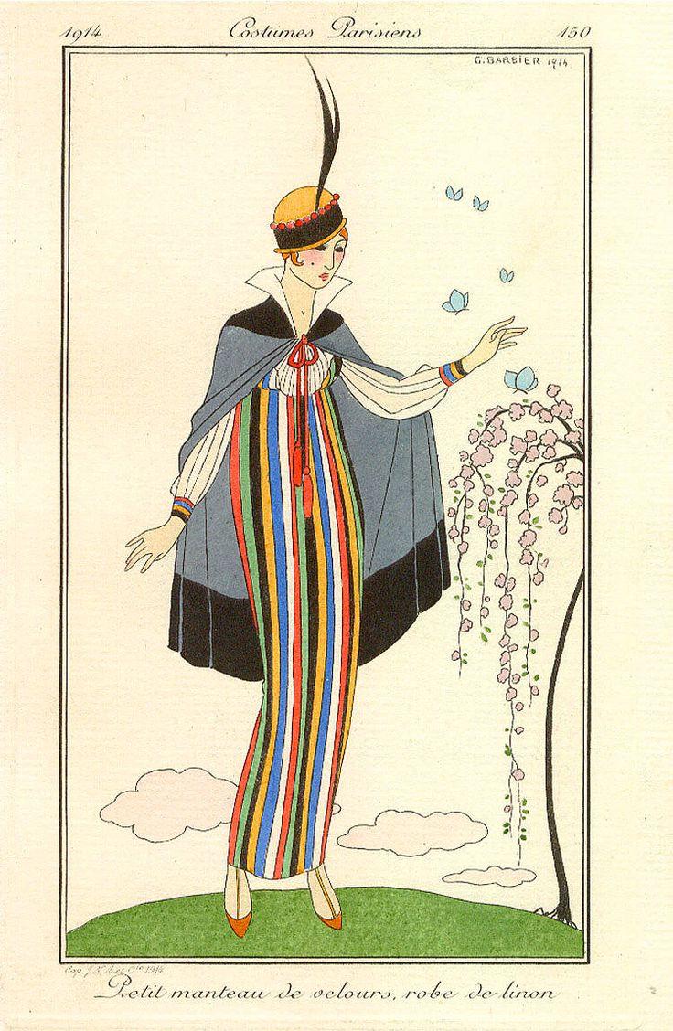 1914 linen dress