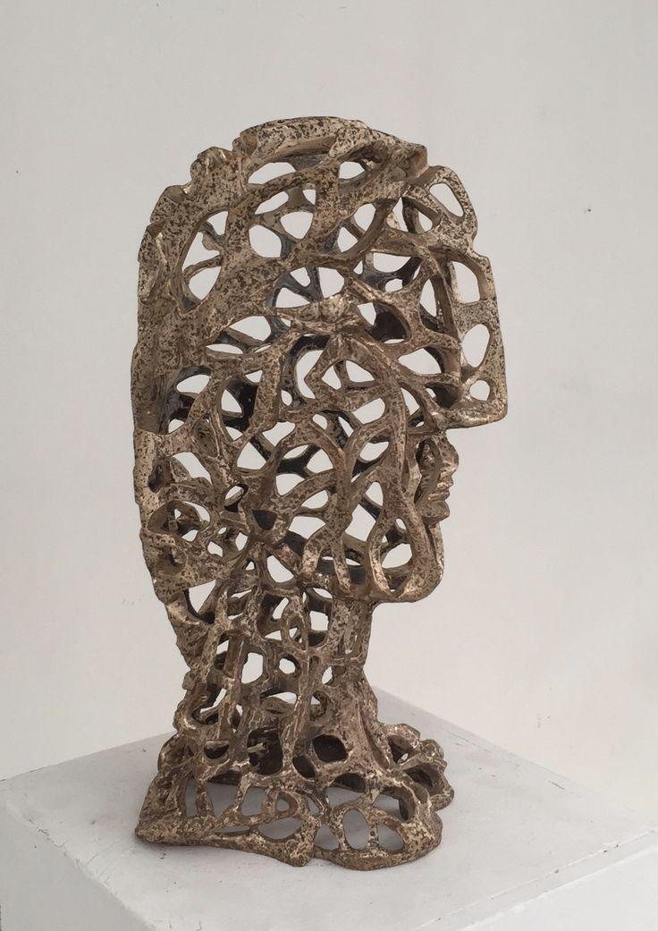 Masque de fer (bronze) 2016  Ferdinand Banza