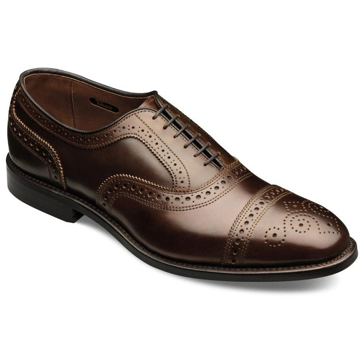 Cordovan Strand - Cap-toe Lace-up Oxford Men's Dress Shoes by Allen Edmonds