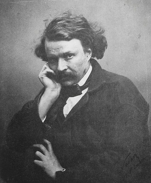 Félix Nadar, self-portrait.  Nadar was a French photographer, caricaturist, journalist, novelist, and balloonist. Examples of Nadar's photographic portraits are held by many of the great national collections of photographs. Wikipedia
