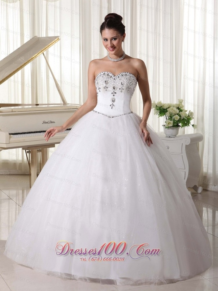 Buy Beading Sweetheart White Ball Gown Unique Wedding Dresses From Classic Collection Neckline Gowns In Colorcheap Floor