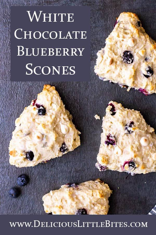 White Chocolate Chip Blueberry Scones Combine Fresh Blueberries And Sweet White Chocolate Chips In An Eas In 2020 Scone Recipe Blueberry Scones Recipe Blueberry Scones