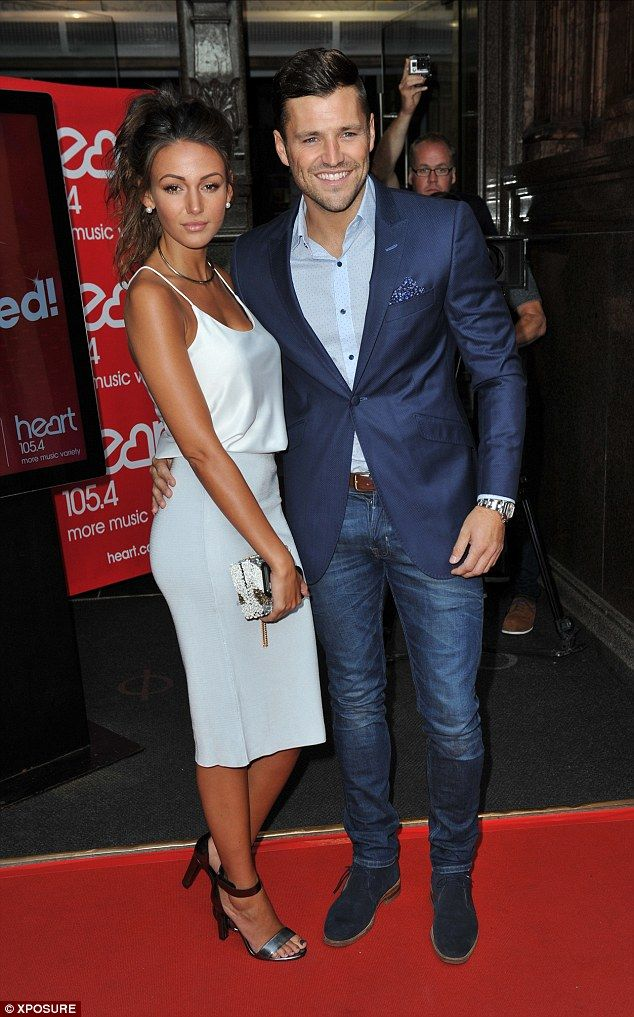 Michelle Keegan.. Michelle Keegan for Lipsy cami, Zara pale blue knit skirt, and Zara silver high heel sandals..