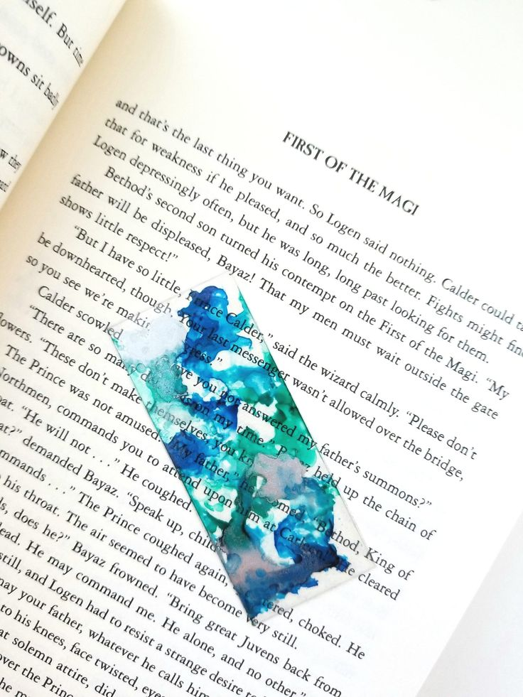 Custom Bookmark Personalized Handmade Watercolor Clear Transparent Bookmark - Little Paper Owlet