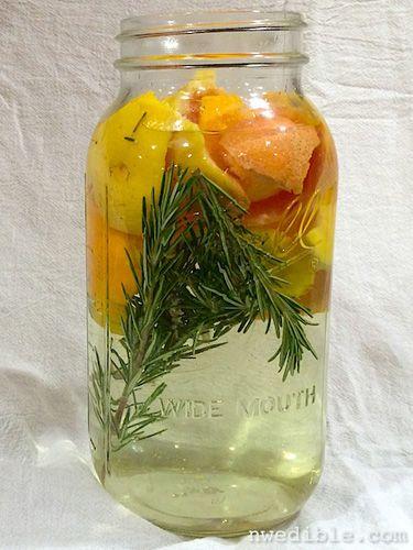Scented DIY Vinegar Cleaners - Rosemary and Orange Peels | DIY Natural Home Cleaners - Good Housekeeping